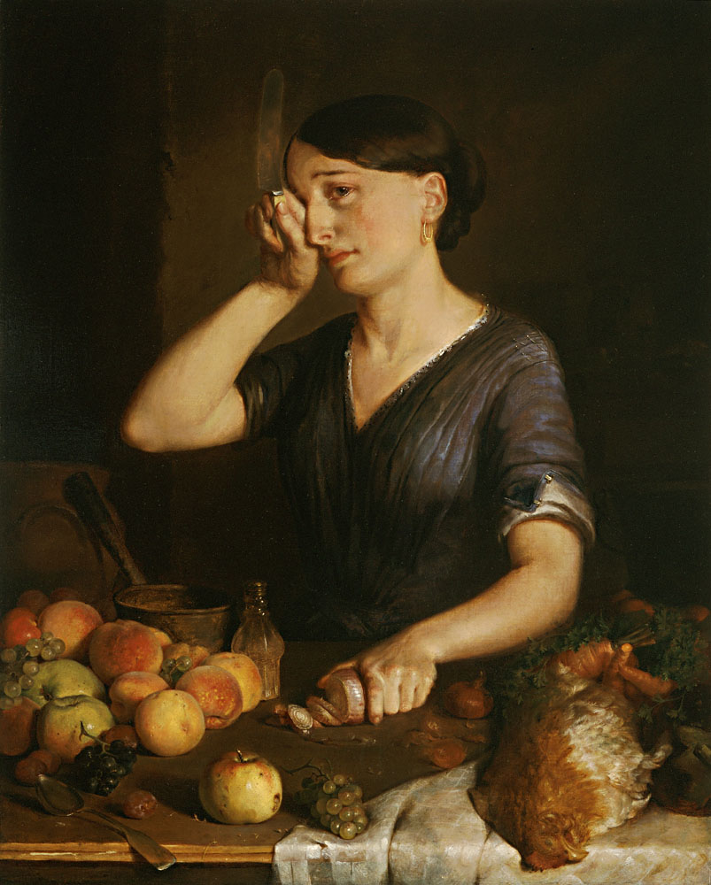 Peeling Onions by Lilly Martin Spencer